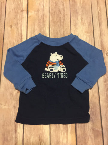 Bearly Tired Long Sleeve Cotton Shirt
