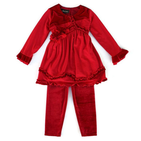 Isobella & Chloe Boutique Candy Apple 2pc Outfit