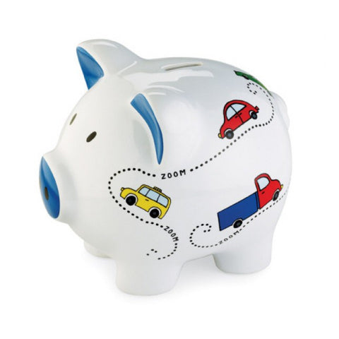 Mud Pie All Boy Zoom Piggy Bank
