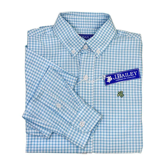 Bailey Boys Roscoe Shirt Berry Blue Check