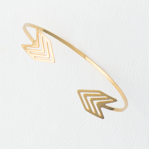 Arrows Bracelet in Yellow Gold Filled