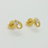 Stud Earrings in Yellow Gold Filled with Gemstones