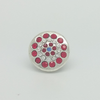 USA Pin in White Gold Filled wih Gemstones