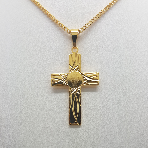 Cross Pendant in Yellow Gold Filled