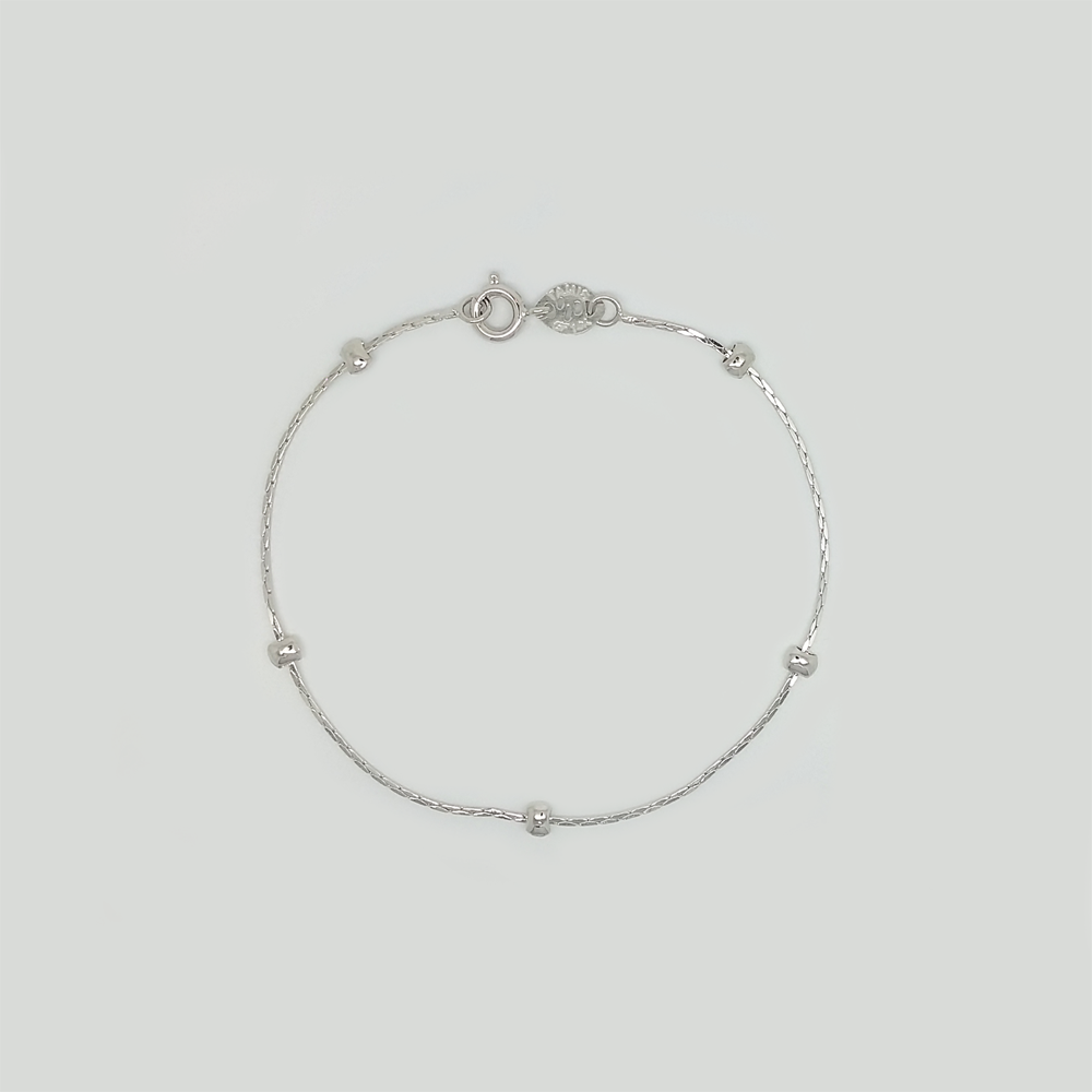 Bracelet in White Gold Filled with Details