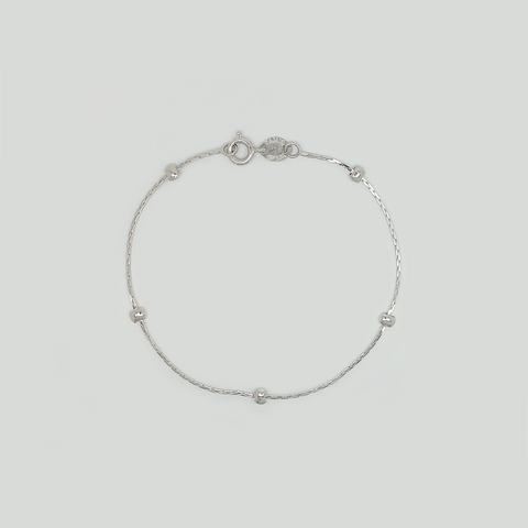 Bracelet in White Gold Filled with Ballls