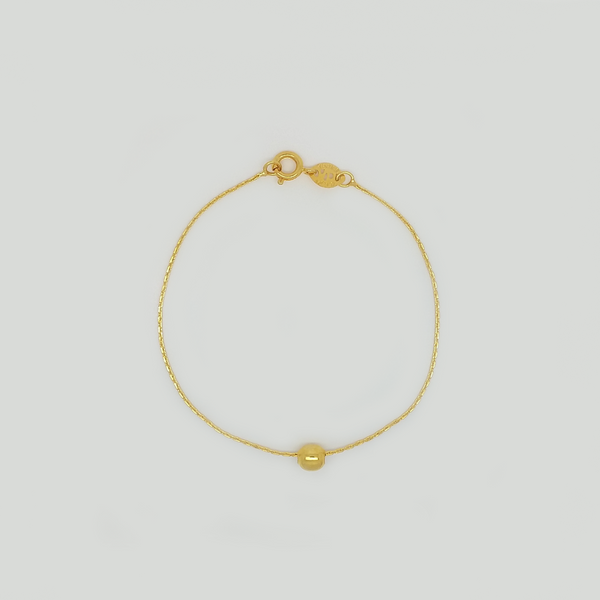 Bracelet in Yellow Gold Filled with Ball