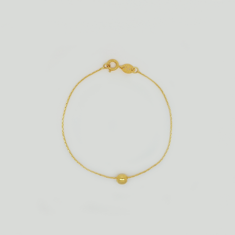 Bracelet in Yellow Gold Filled with Ball Pendant