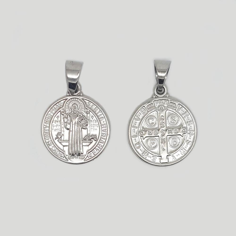 Jesus Medal Pendant in Stainless Steel