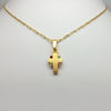Cross in Yellow Gold Filled with Cubic Zirconia