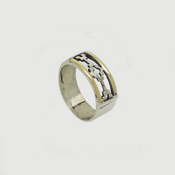 Band Ring in Double Plate
