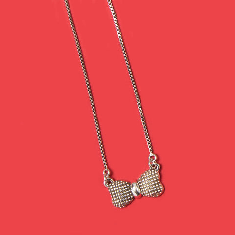 Topknot Necklace Silver Color