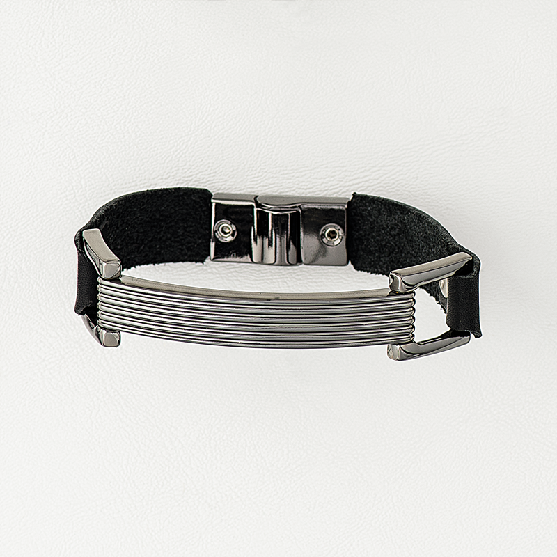 Band in Leather & Stainless Steel