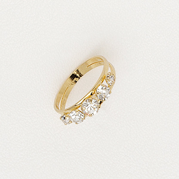 Band Ring, Yellow Gold Plated Ring, Gemstones Rid, Cubic Zirconia Gemstones, Anniversary Ring.