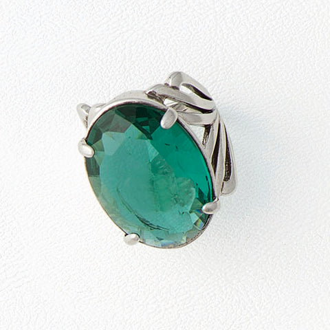 Green Ring, Aged White Gold Plated Ring, Cubic Zirconia Ring, Oval Gemstone Ring, Green Gemstone, Solitaire Ring, Boho Style, Gemstone Ring