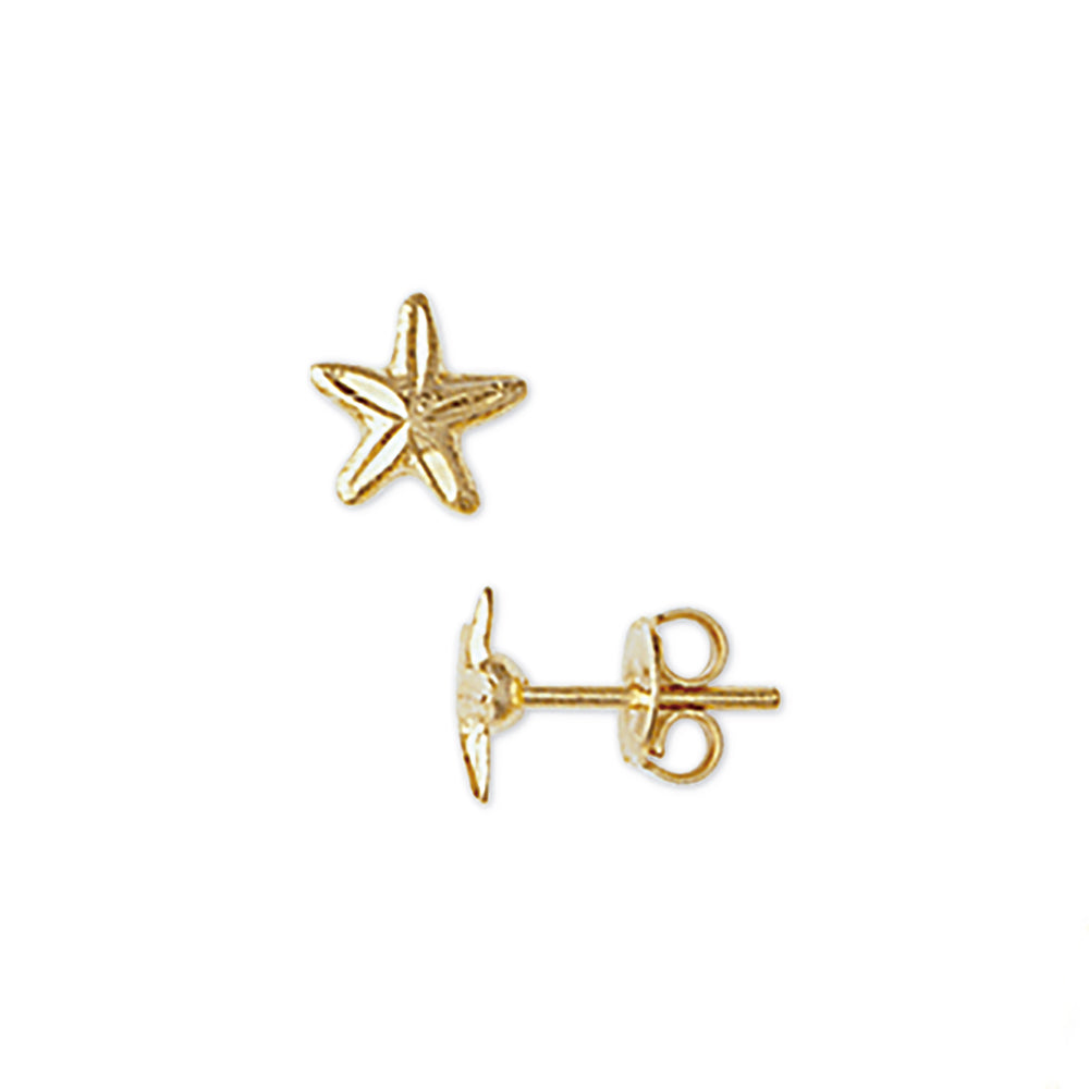 Starfish Stud Earrings in Yellow Gold Filled