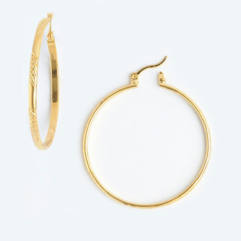 Hoop Earrings in Yellow Gold Plated