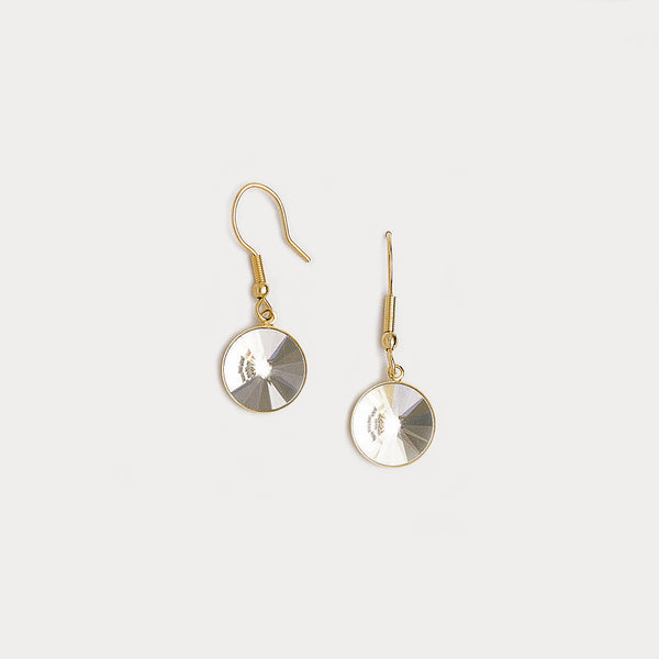 Dangle Earrings in Yellow Gold Filled & Cubic Zirconia