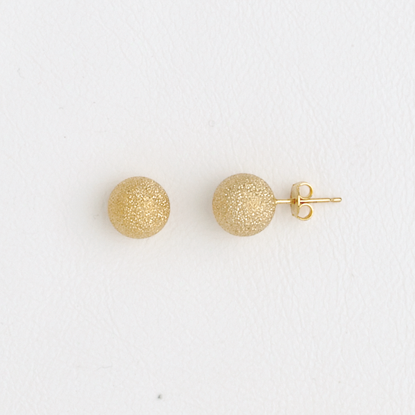 Ball Stud Earrings in Yellow Gold Filled
