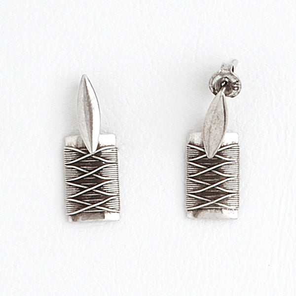 Wire Weaving Earrings, Aged White Gold Filled Earrings, Dangle Earrings