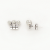 Little Crown Earrings for Women and Girls in White Gold Filled with Pearls
