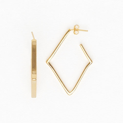Rhombus Earrings in Yellow Gold Filled