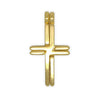 Double Cross Pendants Necklace in Sterling Silver or Gold Filled