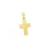 Cross Pendant Necklace in Yellow Gold Filled