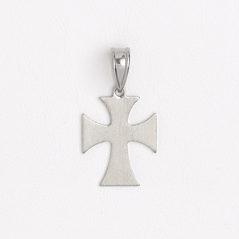 Malta Cross Stainless Steel Pendant Silver