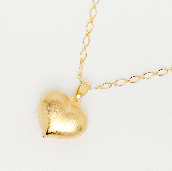 Heart Pendant in Gold Color Metal