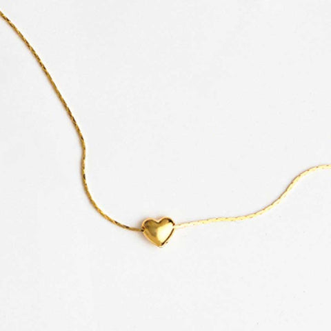 Heart Necklace in Yellow Gold Filled