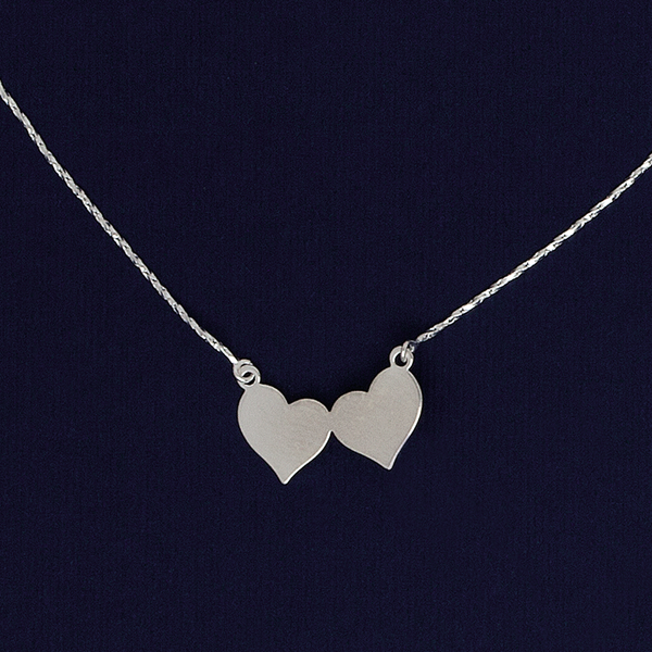 Hearts Necklace in Silver Filled
