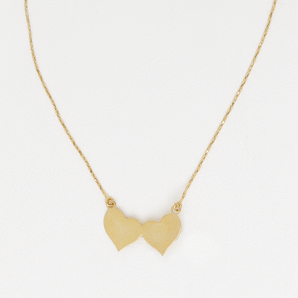 Hearts Necklace in Yellow Gold Filled