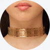 Choker Cut Out in Aged Gold Filled