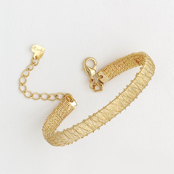 Weave 14k Yellow Gold Filled Bracelet Extensor
