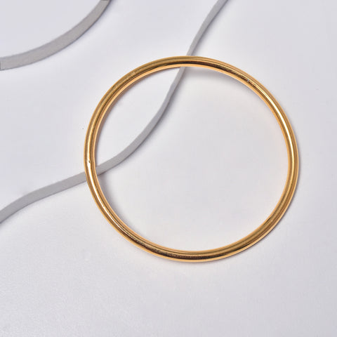 Thick Bangle Bracelet in Yellow Gold Filled