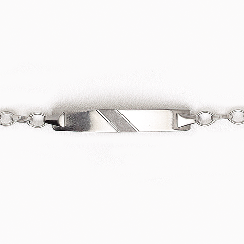 ID Bracelet in Stanless Steel Link Chain