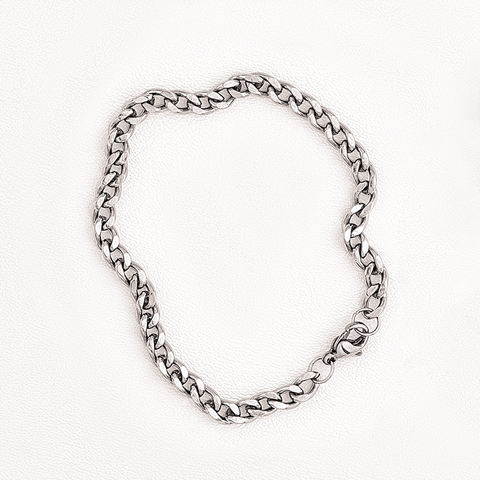 Link Chain Bracelet in Stainless Steel