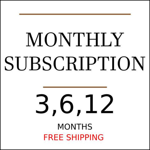 Pick a monthly gift subscription from 3 to 12 months
