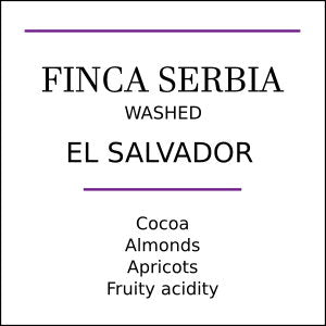El Salvador Finca Serbia Medium Roast Coffee Beans