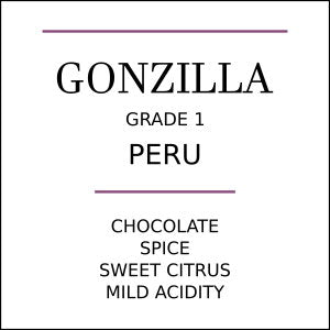 Peru Gonzilla Estate Medium Roast