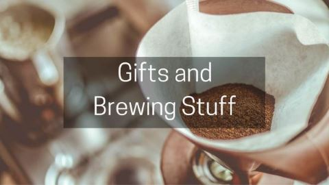 Coffee gifts and brewing equipment