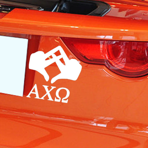 Alpha Chi Omega Car Sticker