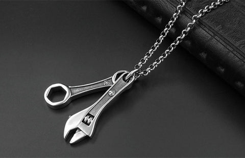 Wrench Pendant Necklace