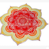 Glorious Flower Shape Mandala Tapestry Yoga Mat Blanket