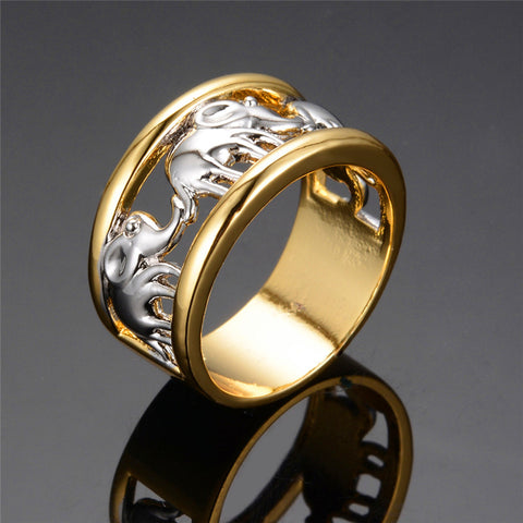 White Elephant Men & Women Ring