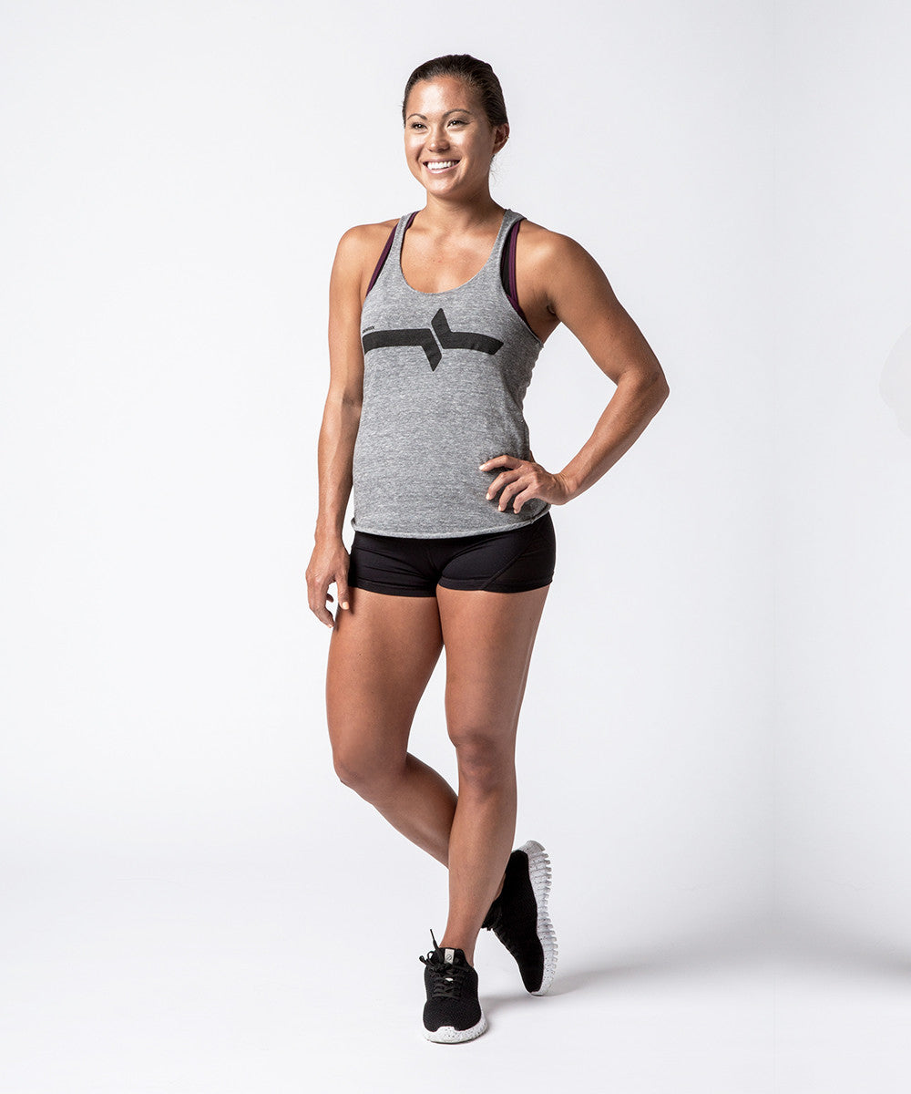 Women CrossFit Grey Barbell Tank