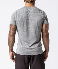 Men CrossFit Grey Barbell T-Shirt