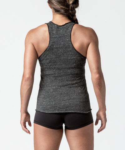 Women CrossFit Charcoal Reflective Rope Racer Back Tank