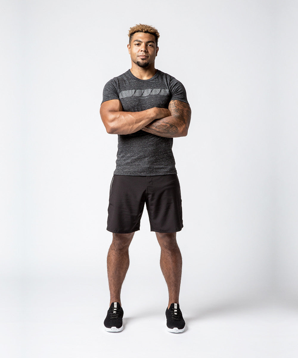 Men CrossFit Charcoal Reflective Rope T-shirt